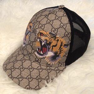 Gucci Tiger print GG baseball hat size L